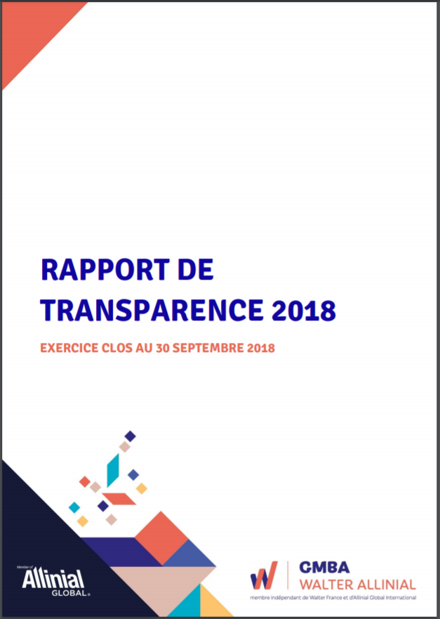 Rapport de transparence GMBA 2018